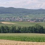 Ville et campagne au nord de l'Alsace