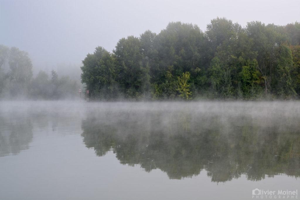 Brume et reflets sur la Seine
